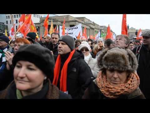 Kundgebung halt zusammen am 16. Januar 2016 in Stuttgart, Langversion 33Min