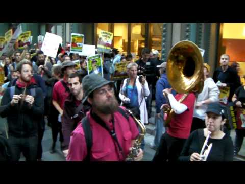 Brass Liberation Orchestra killing it at #OccupySF