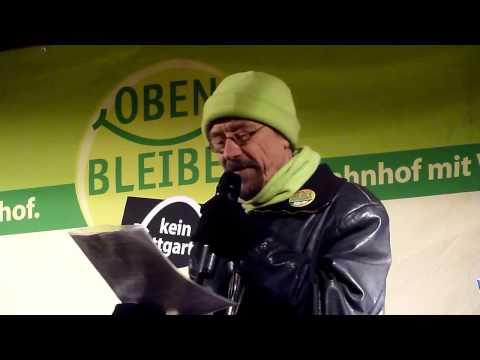 Thomas Renkenberger - 152. Montagsdemo gegen Stuttgart 21 - 10.12.2012