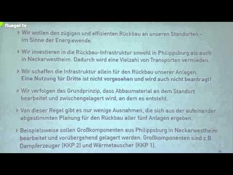 Info-Kommission AKW Neckarwestheim: Bericht der EnBW / EnKK
