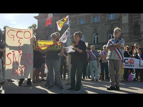 Manifestation contre le GCO – Stuttgarter Solidaritätserklärung an die Protestbewegung GCO non merci