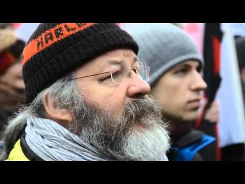 Kundgebung halt zusammen am 16. Januar 2016 in Stuttgart