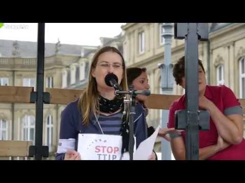 TTIP, CETA, TiSA stoppen! Sarah Haendel, Mehr Demokratie e.V., Stuttgart, 11.10.2014