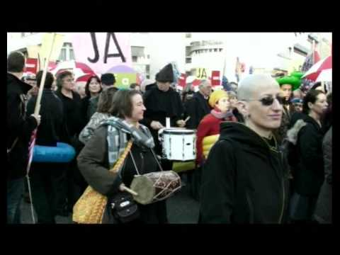 Trommeltruppe - kurze Klangbilder aus der Art Parade Stuttgart 19-11-09
