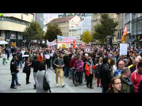 TTIP, CETA, TiSA stoppen! Der Demozug, Stuttgart, 11.10.2014