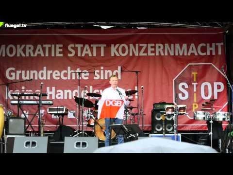 TTIP, CETA, TiSA stoppen! DGB-Kundgebung: Uwe Meinhardt, IG Metall, Stuttgart, 11.10.2014