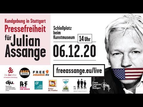 Friedenspreis für Julian Assange | Kundgebung zur Rettung der Pressefreiheit